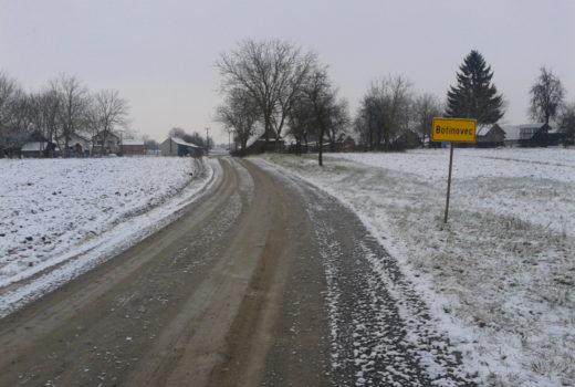 Sanacija nerazvrstane ceste između naselja Botinovec i Grbaševec