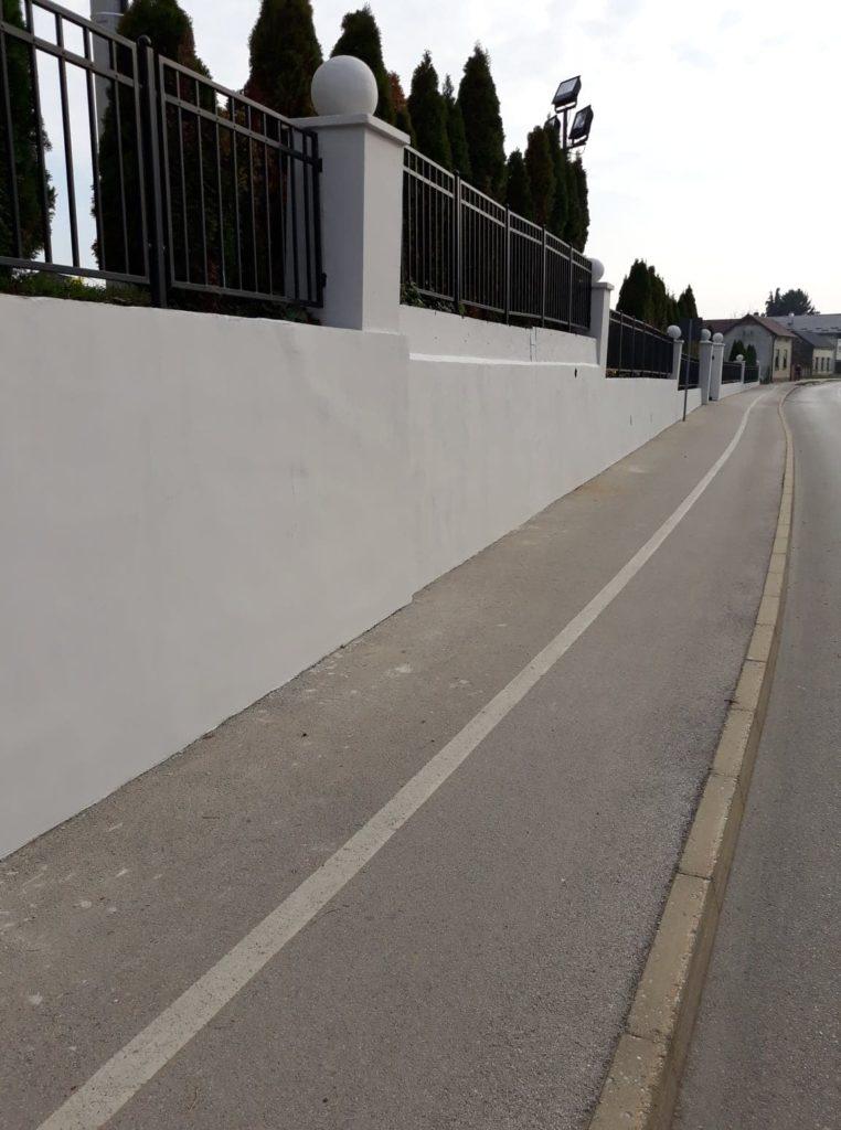 Sanacija potpornog zida kod Crkve sv. Ivana Krstitelja u Koprivničkom Ivancu
