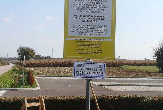 Postavljeni znakovi za zabranjeno odlaganje otpada