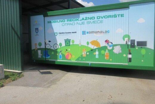 Mobilno reciklažno dvorište danas se nalazi u Općini Koprivnički Ivanec